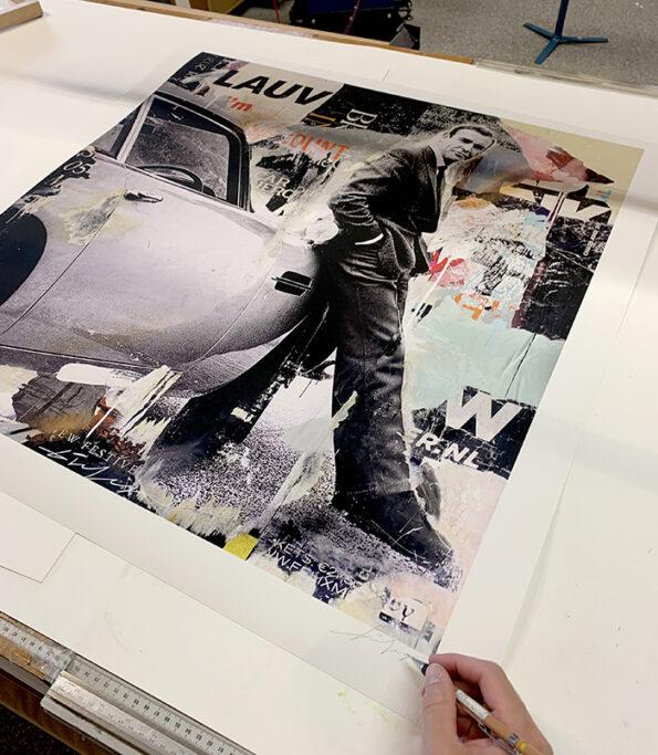 Bond print 80x80cm
