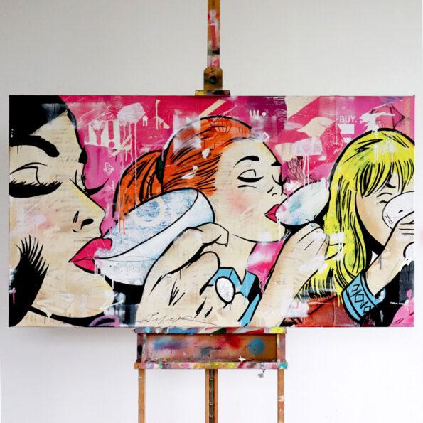 girls night out streetart