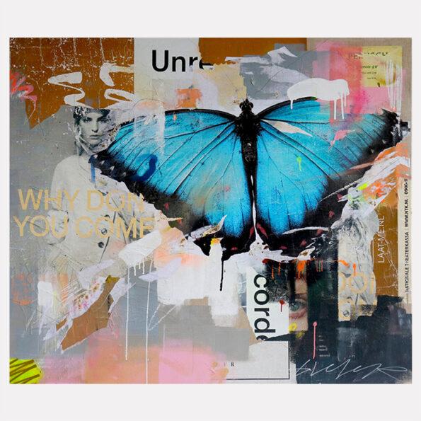 Butterfly streetart